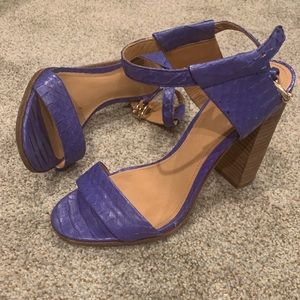 Coach Python Embossed Sandal Heels